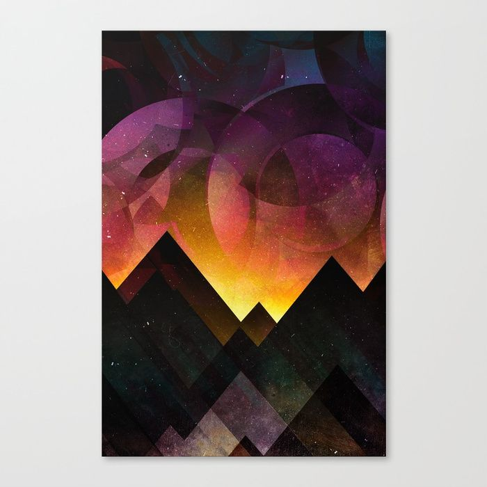 Whimsical mountain nights Canvas Print by HappyMelvin | Society6
