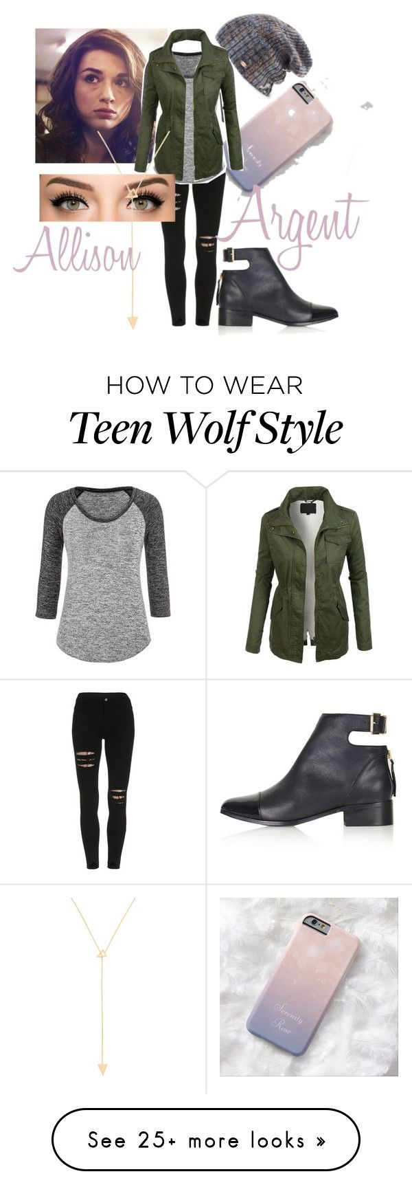 """Allison Argent from Teen Wolf"" by r5lover-11 on Polyvore featuring Spacecraft, maurices, LE3NO, Topshop and Jennifer Zeuner"