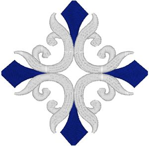 Vintage Ecclesiastical Cross Design 702 Embroidery Design