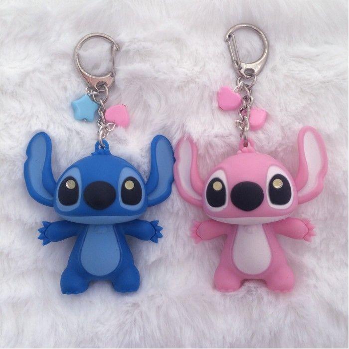 Kawaii Stitch Angel Keychain Crafts Stitch Angel