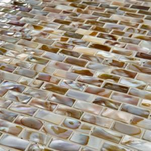 Merola Tile Conchella Subway Perla 11 3/4 in. x 11 3/4 in. Natural Shell Mosaic Wall Tile-GITCSP at The Home Depot