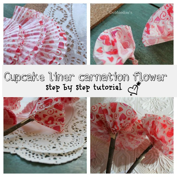 How to make these adorable dollar tree cupcake carnations from Debbiedoo's