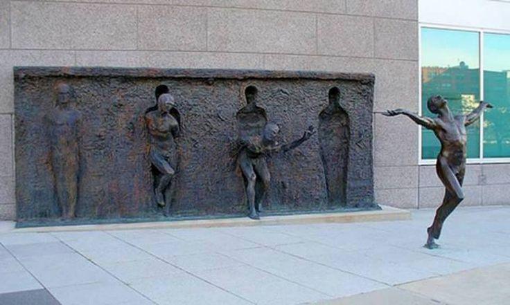 Freedom Sculpture Philadelphia, Pennsylvania USA.