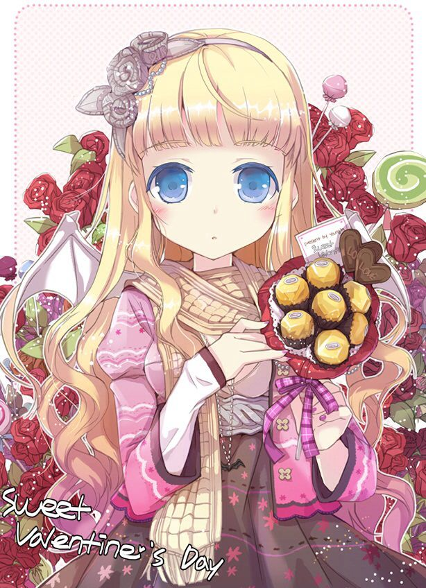 39 best candy images on pinterest kawaii kawaii cute - Happy valentines day anime ...