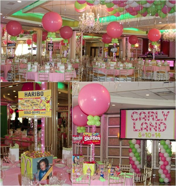 Candyland party theme ideas balloon centerpieces