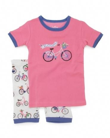 PLANET PYJAMA - Home of quality Kids pyjamas - ZOOM! Bicycles shortie pyjamas, $34.95 (http://www.planetpyjama.com.au/zoom-bicycles-shortie-pyjamas/)