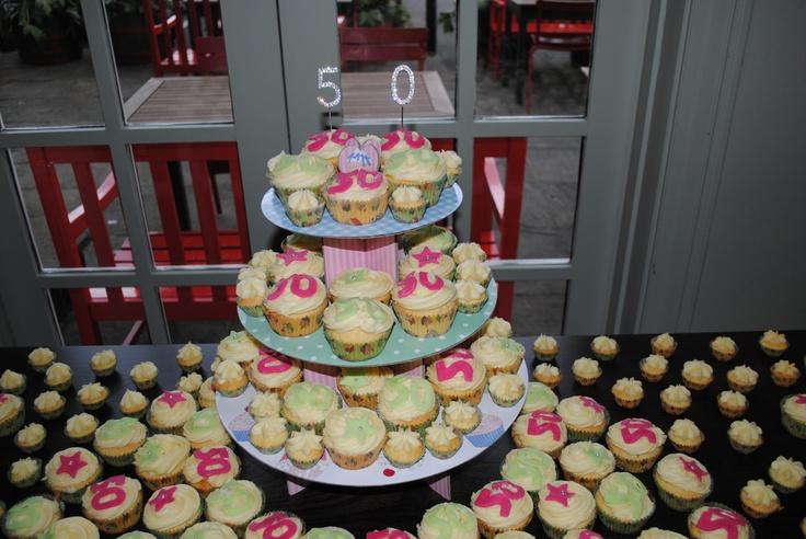 50th Birthday cupcakes!
