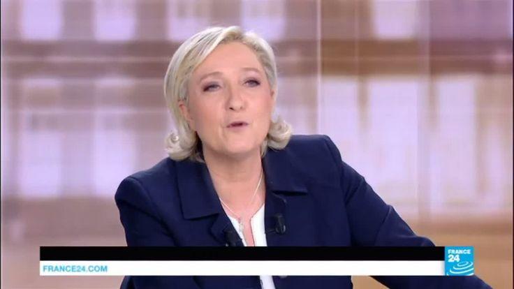 "Marine Le Pen to Emmanuel Macron: ""We now call you Hollande Junior!"""