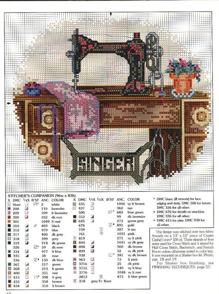 old fashioned sewing machine cross stitch - Google Search