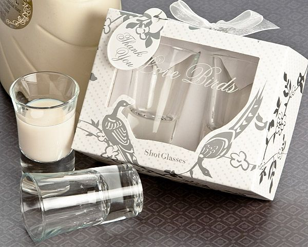 Love Birds Shot Glass Favor Set In Designer Gift Box Is The Air With This Truly Extraordinary Of Two Glasses Presented Artistically