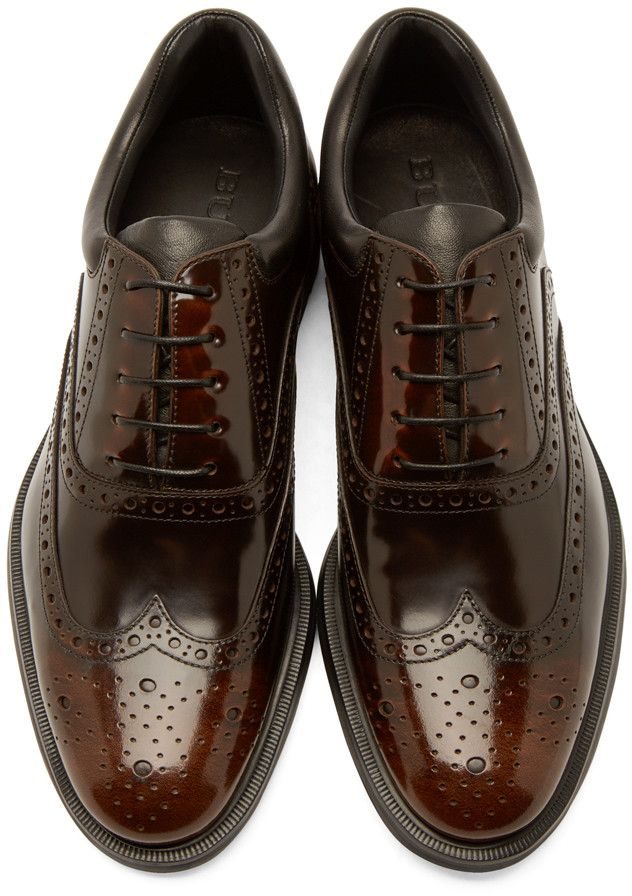 Burberry London Brown Shortwing Pakefield Brogues