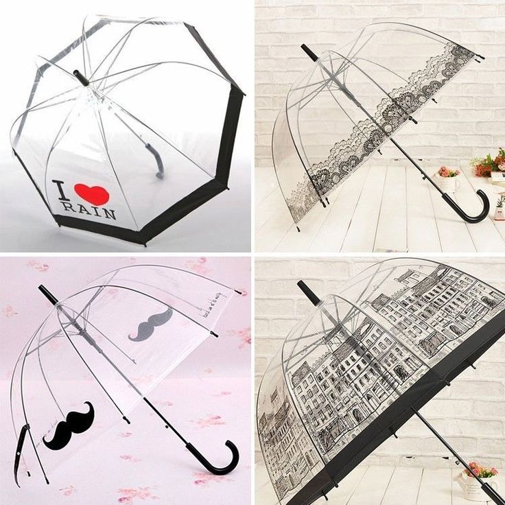 Women Umbrellas Transparent Lace Outdoor Lady Beard House Creative Umbrella