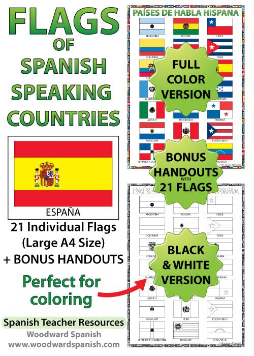 flags of spanish speaking countries ideal for decorating the spanish classroom bonus handouts