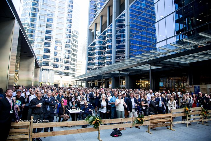 DY.o events (aka Duo) Guests watching the Melbourne Cup on the big screen at Brookfield Place