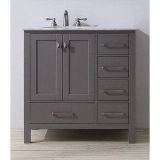 Shop for Stufurhome 36 inch Malibu Grey Single Sink Bathroom Vanity  Get free delivery at. 1000  ideas about Grey Bathroom Furniture on Pinterest   Double