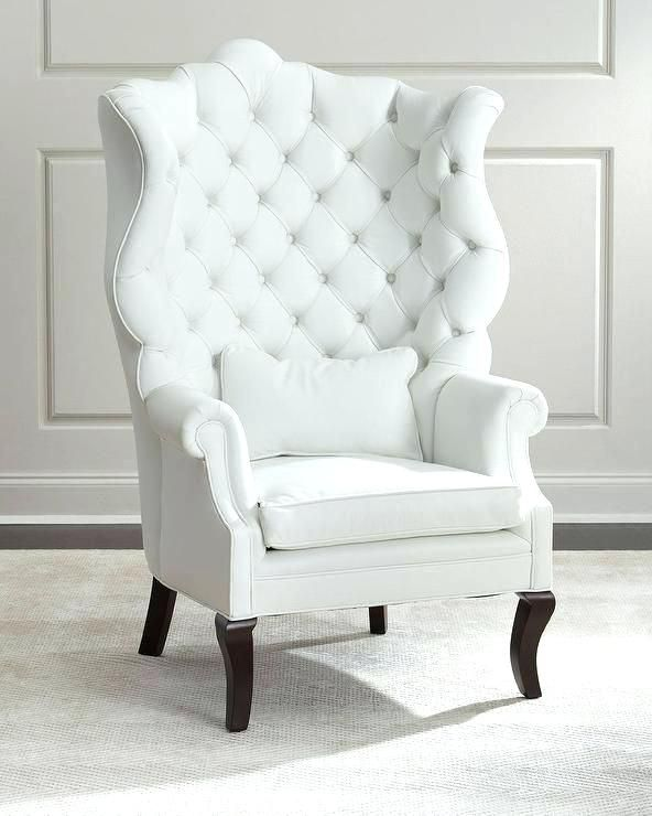 Fabulous White Leather Armchair 63 On Small Home Decoration