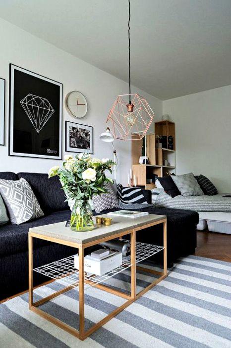 Спальня и гостиная в стиле модерн.