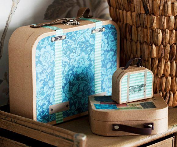 Askartele ihanat matkalaukut – Katso ohje: Kotiliesi.fi - DIY suitcases