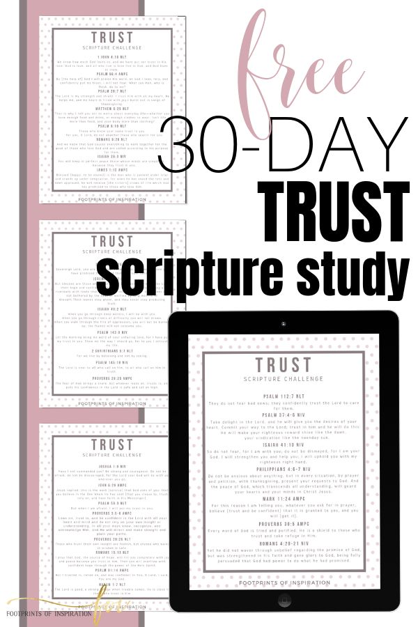 TRUST SCRIPTURE WRITING CHALLENGE – Footprints of Inspiration (Christian Inspiration and Goal Setting Motivational Tips)