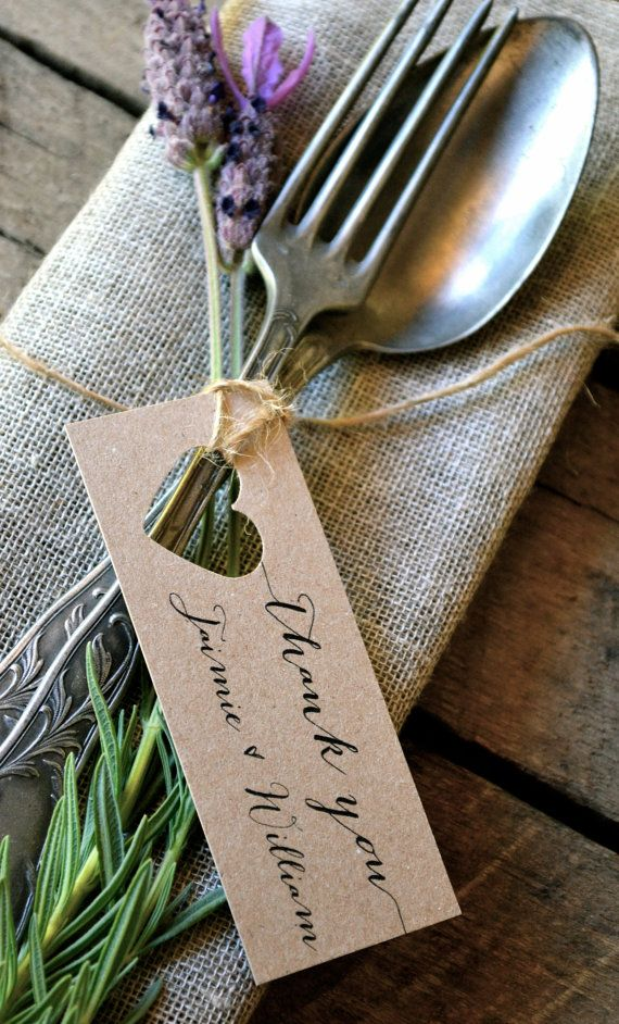 Wedding Thank You Tags / Personalised Thank You di LaPommeEtLaPipe