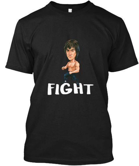 Karate Fight Flex Kung Fu Tv Character Black T-Shirt Front