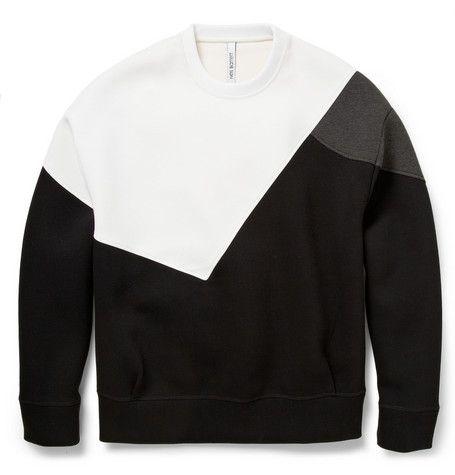 Neil BarrettColour-Block Bonded-Jersey Sweatshirt