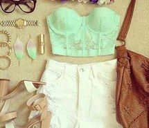 Inspiring picture awesome, beautiful, flower crown, outfit, tan, Braclets, cute, fashion, leather, brown, denim, lipstick, white, chic, green, watch, clothes, purse, cool, glasses, earings, style, flowers, accsessories, gold, heels, makeup, purple, shoes, shorts. Resolution: 306x306. Find the picture to your taste!