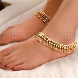 Art Karat   Kundan/White Pearl  NAVYA PAYAL