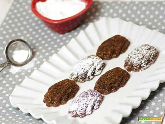Madeleine con farina di nocciole e nutella  #ricette #food #recipes