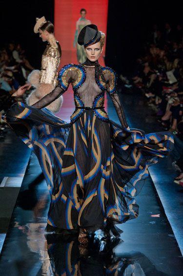 Jean Paul Gaultier Fall 2013 Couture: A Mini-Saia Jeans, Jean Paul Gaultier, Gaultier'S Haute, Gaultier Fall, Jeanpaulgaultier, Fall 2013, Jeans Paul Gaultier, 2013 Couture, Haute Couture