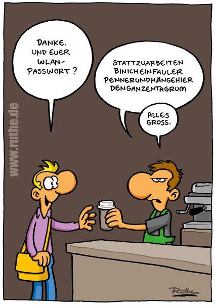 Cartoon - sicheres WLAN Passwort ;) - ruthe.de
