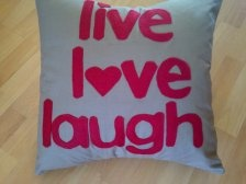 All about hearts! Lovely personalised word cushion, choose your own words!