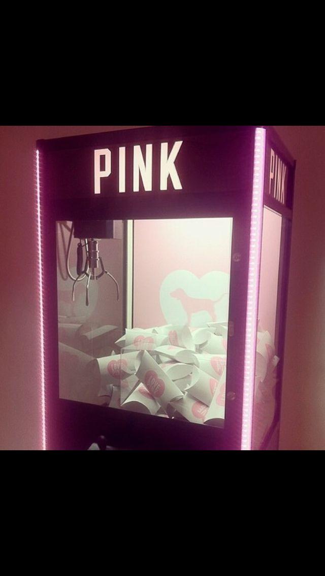 pink claw machine