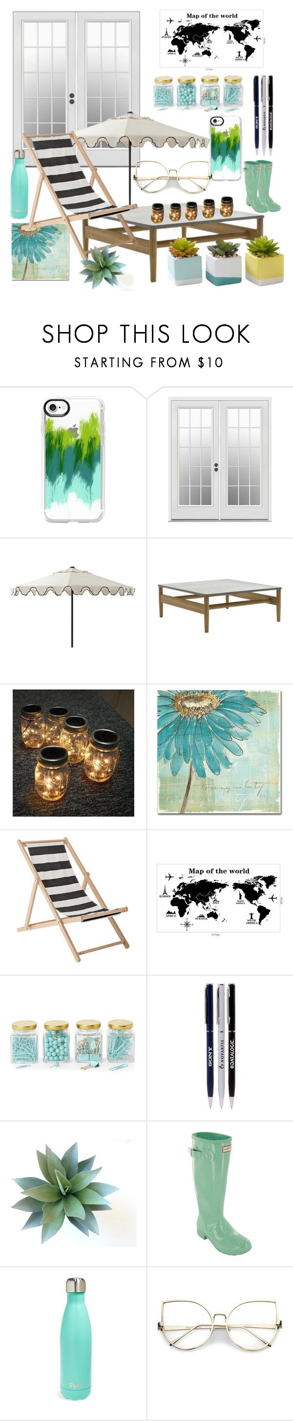 """""""Working outside"""" by aslittle10 ❤ liked on Polyvore featuring interior, interiors, interior design, home, home decor, interior decorating, Casetify, Ballard Designs, Trademark Fine Art and Bloomingville"""