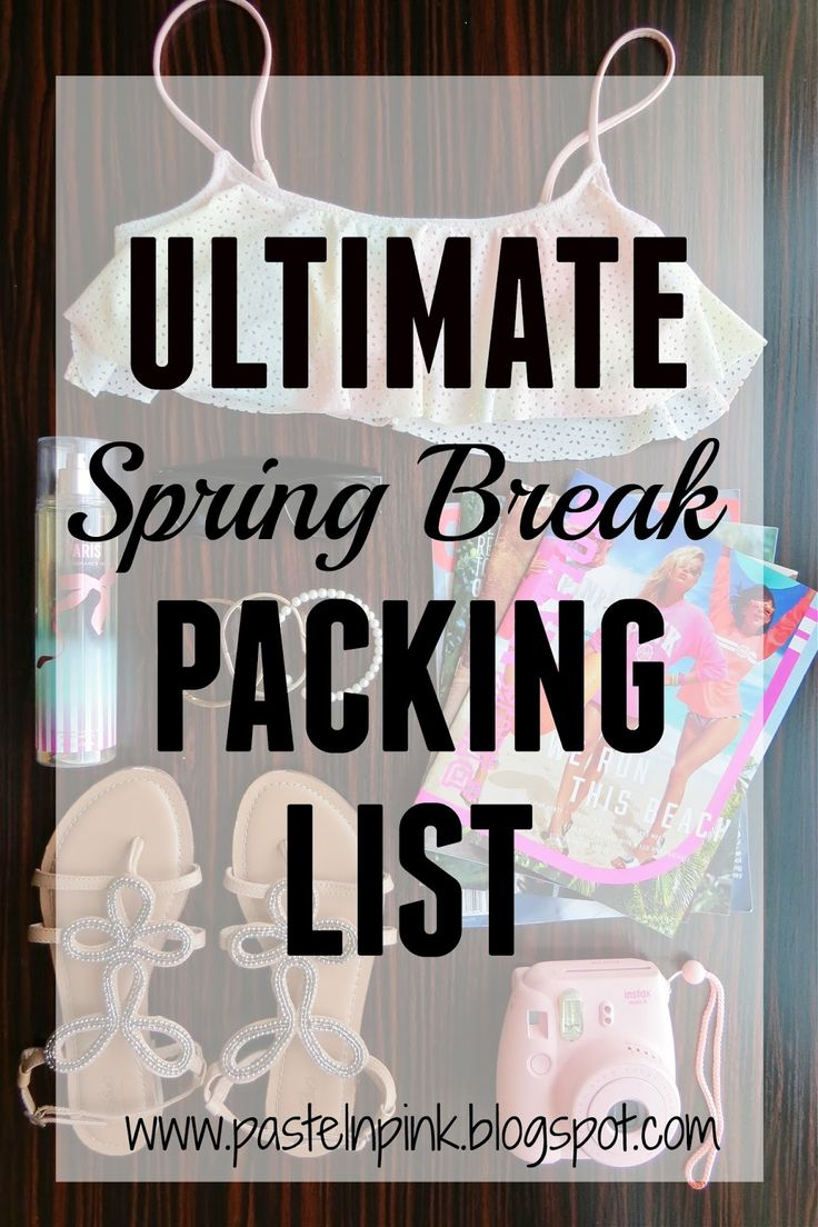Pastel N Pink: Ultimate Spring Break Packing List