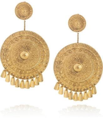 ShopStyle: Aurélie Bidermann Pachacamac 18-karat gold-plated medallion clip earrings