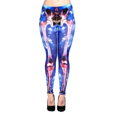 Skelet galaxy leggings #halloween #leggings #galaxy #skelet www.attitudeholland.nl