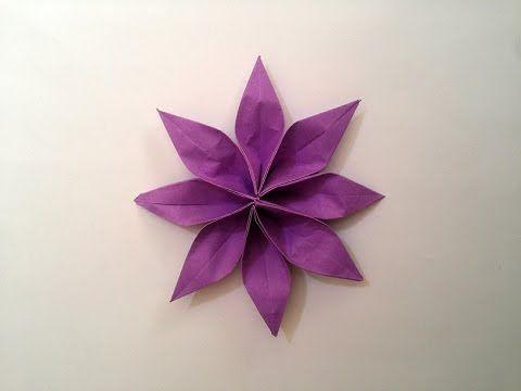 Jak zrobić: Papierowy Kwiat (2-częsciowy) #origami #kwiat #flowers