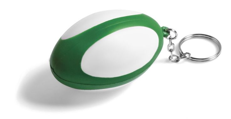 So cute, mini rugby ball stress ball wedding favours that also doubles as a key holder