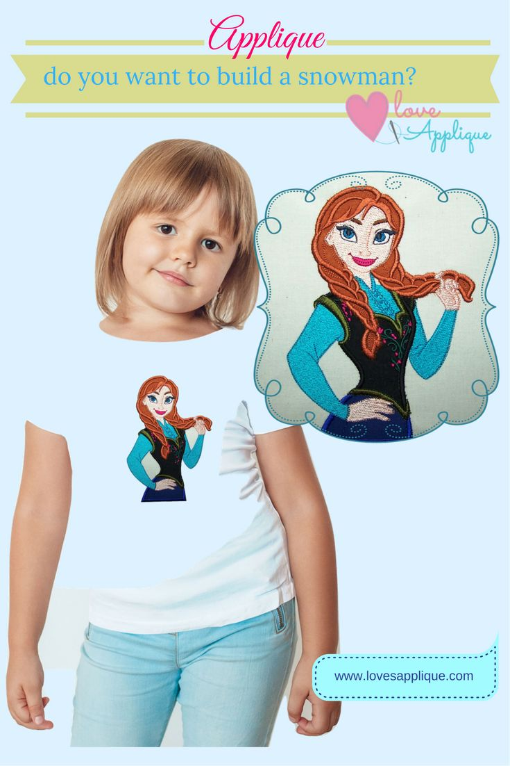 Frozen Applique Designs. Princess Anna Applique. Elsa and Anna Applique. Frozen Outfits, Frozen Party Ideas. Frozen Designs. Disney Princess. Disney Applique. www.lovesapplique.com
