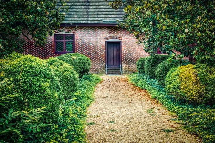 Pathway - A stone path leading to the front door of the Thoroughgood House in Virginia Beach, Virginia.   en.wikipedia.org/wiki/Adam_Thoroughgood_House  Buy this photo at: http://www.billchizekphotography.com/Archive/i-R6CGMmn/A