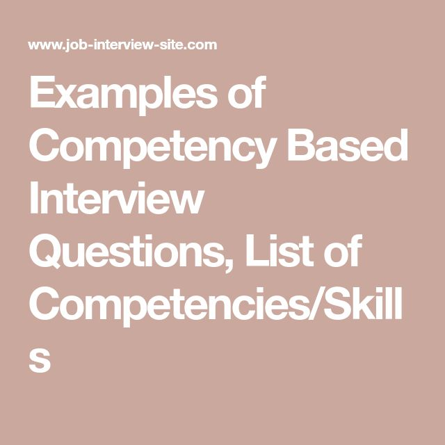 The  Best Competency Based Interview Questions Ideas On