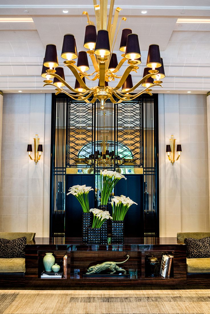 Wildwood brass and crystal beads buffet - Prince De Galles Lobby