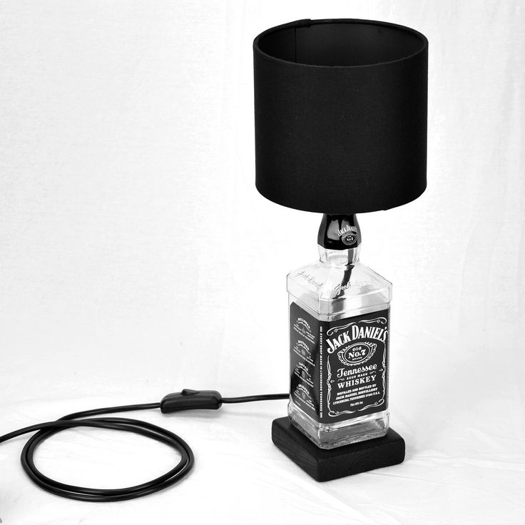 Jack Daniels Decorative Table Lamp with Black Lamp Shade by lhirondellechic on Etsy