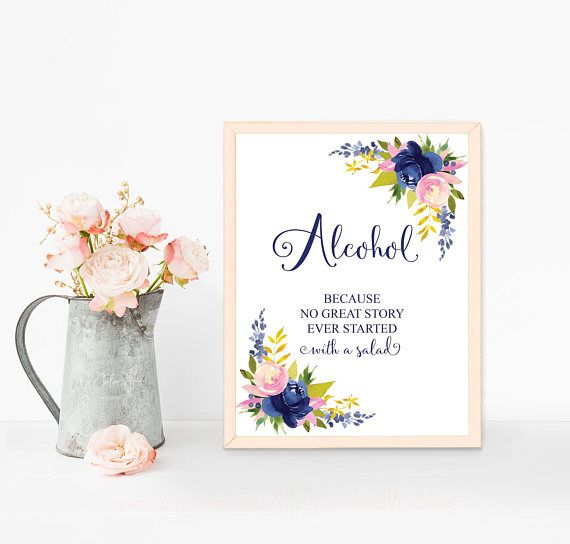 Funny bar sign printable Funny alcohol sign Wedding bar