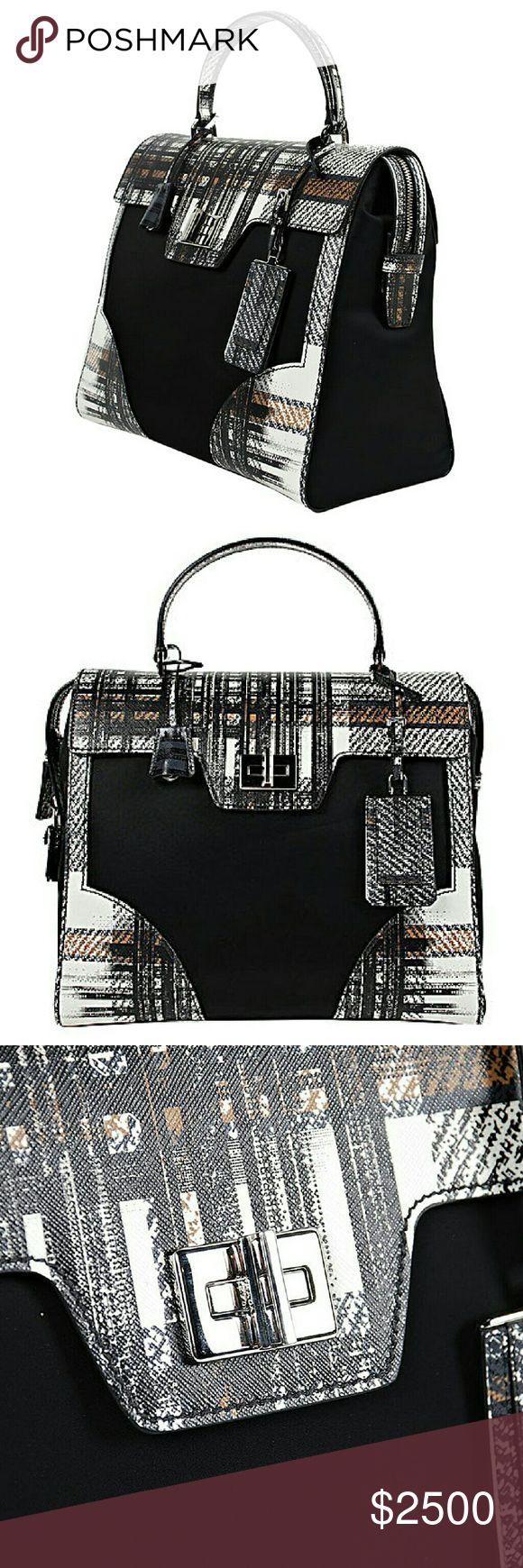 Handbag Saffiano + nylon handbag , limited edition Prada Bags
