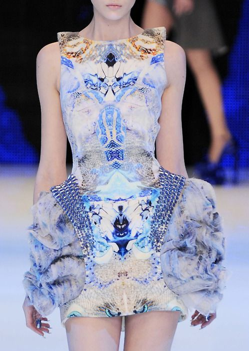 This piece has to be from my favourite Alexander McQueen collection, stunning engineered digital prints!
