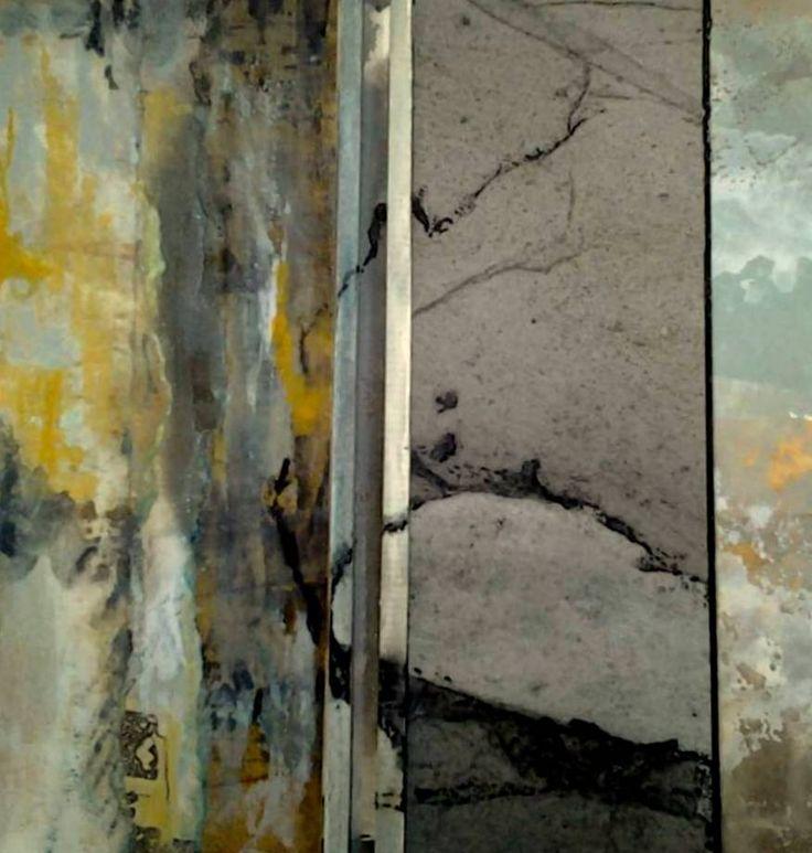 c) Suzanne Paliard 2015 20 x 20 collages acrylique et encre