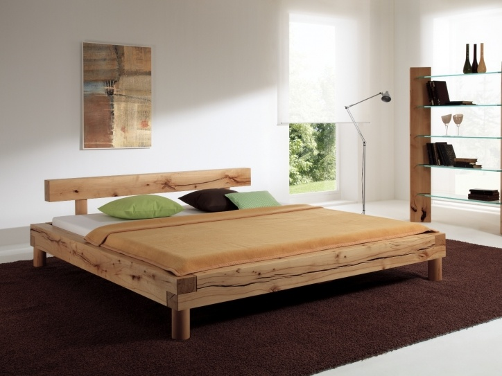 balkenbett normannstein h modern wood bed designs - Wooden Bedroom Design