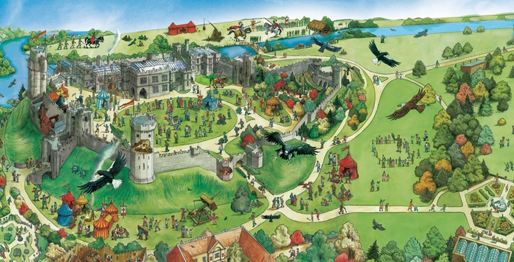 Warwick castle map basically a renaissance festival at for Gardening 4 you warwick
